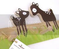 Fawn and Mother Deer Peg Rack - eco-friendly