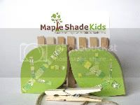 Leaf Art Clips - eco-friendly - by Maple Shade Kids