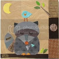 Raccoon and Bluebird Friend Collage - eco-friendly